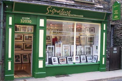 Signature Authentic Signed Memorabilia Shop in the Lake District
